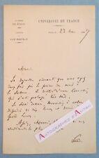 L.A.S 1897 Octave GREARD - Pédagogue universitaire Académicien - Sorbonne lettre