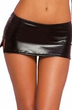 Latex Look Sexy Black Micro Mini Skirt