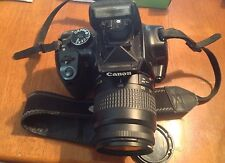 Canon EOS Digital Rebel XTi Digital SLR Camera - Black USED Long lens