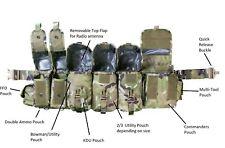 More details for kitpimp mtp commanders airborne webbing w/ bowman radio pouch belt plce £249.99