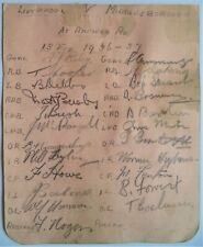 LIVERPOOL v MIDDLESBROUGH 1936-37 SIGNED BY BOTH TEAMS FOOTBALL AUTOGRAPH SHEET