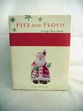 Fitz & Floyd Candy Cane Santa Lidded Box ~ New in Box!