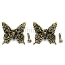 2 PCS Euro Vintage Butterfly Cabinet Handles Kitchen Furniture Drawer Pull Knob