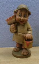 Vintage Wood Carved Gnome / Dwarf #BT