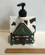 Bath Liquid Soap Lotion Dispenser Pump~Ski Lodge/Chalet~Resin