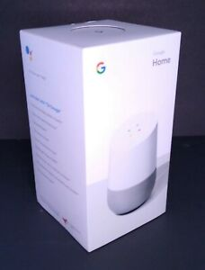 Google Home Voice Activated Speaker Google With Assistant White Slate Brand New