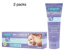 Lansinoh HPA Lanolin Nipple Cream 40ml -  Sore Nipples & Cracked Skin- 2 Packs