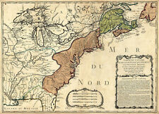 1756 Map French and Indian War Wall Art Poster Print Home School Vintage History