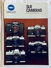 Minolta SLR Film Cameras, A4 Product Brochure, 22 Pages