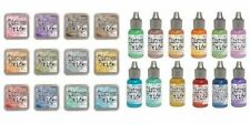 TIM HOLTZ Lot of Distress Oxide Ink Pads & Reinkers 12 colors 24pc Lot REL #1