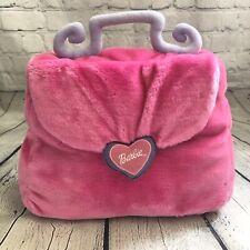Mattel BARBIE Decortive Pillow (2001) Pink Faux Purse Bag Plush Room Bed Decor