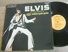 LP ELVIS PRESLEY Madison Square garden RCA VICTOR ETAT TTB Rock