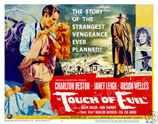 Touch Of Evil Lobby Title Card Poster 1958 Charlton Heston Janet Leigh
