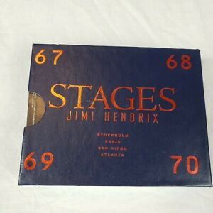Jimi Hendrix STAGES Set of 4 Cassettes 67,68,69,70 Orig Box Set Tapes