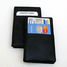 2X Genuine Leather Ticket Magic Wallet Smart Holder for Mens Kids Gift Idea