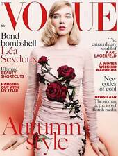 VOGUE Magazine BRITISH November 2015 Lea Seydoux Craig McDean Karlie Kloss NEW