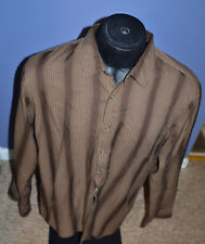 Men's Kenneth Cole Brown Long Sleeve Dress Shirt Size XXL