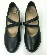 Wolky Mary Jane Black Leather Heel Walking Comfort Shoes Sz 41 US 9 / 9.5