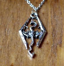 The Elder Scrolls Skyrim Dragon Pendant Necklace