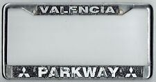 Valencia California Parkway Mitsubishi JDM Vintage Dealer License Plate Frame