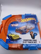 Hot Wheels Carrying Case Slot Track Set 14 pcs. 170cm/5.5ft track 2 cars NIB