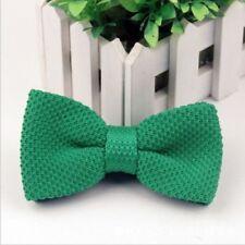 Corbatas, pajaritas y pañuelos de hombre verdes sin marca de poliéster