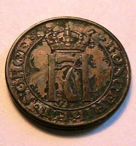 1914 Norway 2 Ore Ch XF Nice Toned Original Norge Two Ore European World Coin