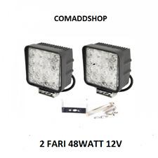 2X 48W LED LUCE FARO LAMPADA DA LAVORO FARETTO AUTO BARCA CAMION KLW SUV 12V 24V