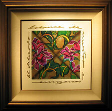 "Luis Sottil ""Red Fresco"" Hand Signed Framed Naturalismo on Canvas, floral, L@@K!"