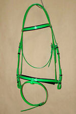 PVC Hanovarian Bridle Head Lime Green / Black
