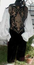 Renaissance PIRATE VAMPIRE MENS DOUBLET (VEST) ONLY COSTUME rc ALL SIZES AVAIL.