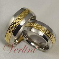 8MM Titanium Rings Men's & Women's 14k Gold Wedding Bands Hot Bridal Jewelry