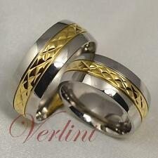 8MM Titanium Rings Men's & Women's 14k Gold Wedding Bands Hot Bridal Jewelry
