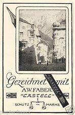 Bleistift Faber Castell Reklame von 1926 Füller Zeichenstift zeichnen Zeichnung