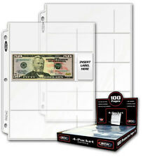 (20) 4 POCKET CURRENCY PAGES: HOLDS 80 BILLS