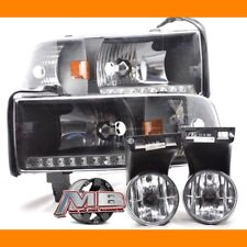 Replacement Clear Head Lights LED & Fog Lights For 1994-2001 Dodge Ram MBA Combo