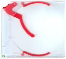 200 CD DVD e-slimcase Estrattore Custodia Con Rosso trigger per 1 disco Slimline NUOVO HQ