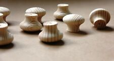 10 x 40 mm diameter Wooden Knobs DIY Cupboard Drawers RAW NATURAL PINE