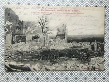 WW1 1914 Ruins of farm de Leomont after bombarded WAR DAMAGE original  Postcard