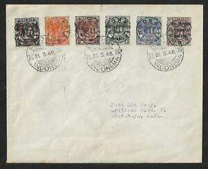 INDONESIA JAPAN OCCUPATION OVPT CANCELS TO JAVA COVER 1946 RARE