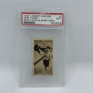 1927 British American Tobacco GENE TUNNEY #3 PSA 7 NM Who's Who in Sport Rookie