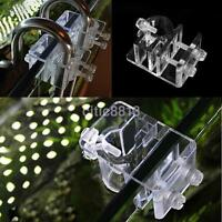 Aquarium Acrylic Fish Tank Filter Outflow Inflow Pipe Water Hose Mount Holder AU