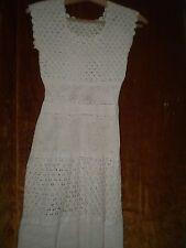 Beautiful handmade crocheted -dress  100% Cotton  ecru