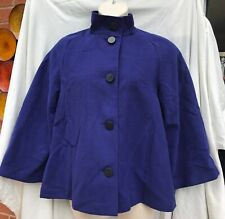 Ladies size 14 sapphire blue swing coat by M&S *NEW+TAGS*