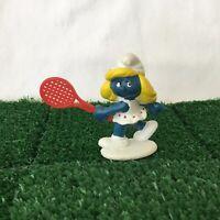 Smurfs Tennis Smurfette 20135 Vintage Smurf Toy Figure Schleich 1981