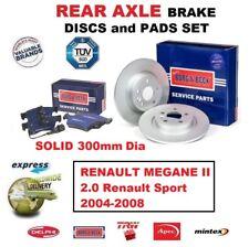 REAR BRAKE PADS + DISCS 300mm for RENAULT MEGANE II 2.0 Renault Sport 2004-2008