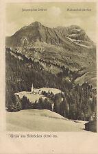 AK-Gruss aus Schröcken-Bregenzer-Wald-Juppenspitze-Mohnenfluh