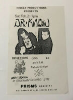 Vintage Hardcore Punk Rock Concert Flyer Dr. Know Dissension 1987 Phoenix AZ