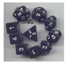 1 @ D4 D8 D10 D12 D20 D00-10 /& 4 D6 Oblivion Orange RPG Dice 10pc