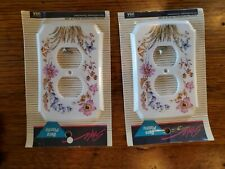 Nos Vintage 70s 80s Plastic Switch Outlet Plastic Wall Plate Covers Flowers Mcm